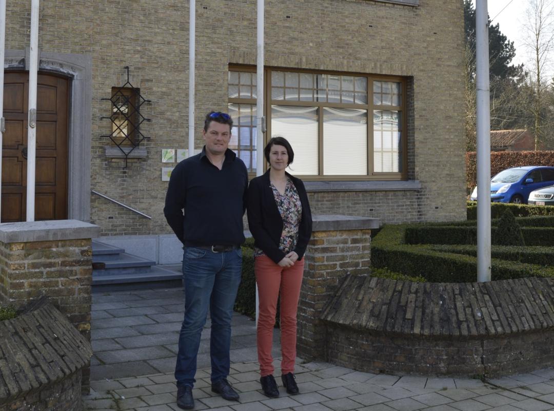 OCMW-raadsleden Tom Taveirne en Katrijn Dereeper